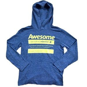 Old Navy graphic hoodie Awesome boys L (10-12)